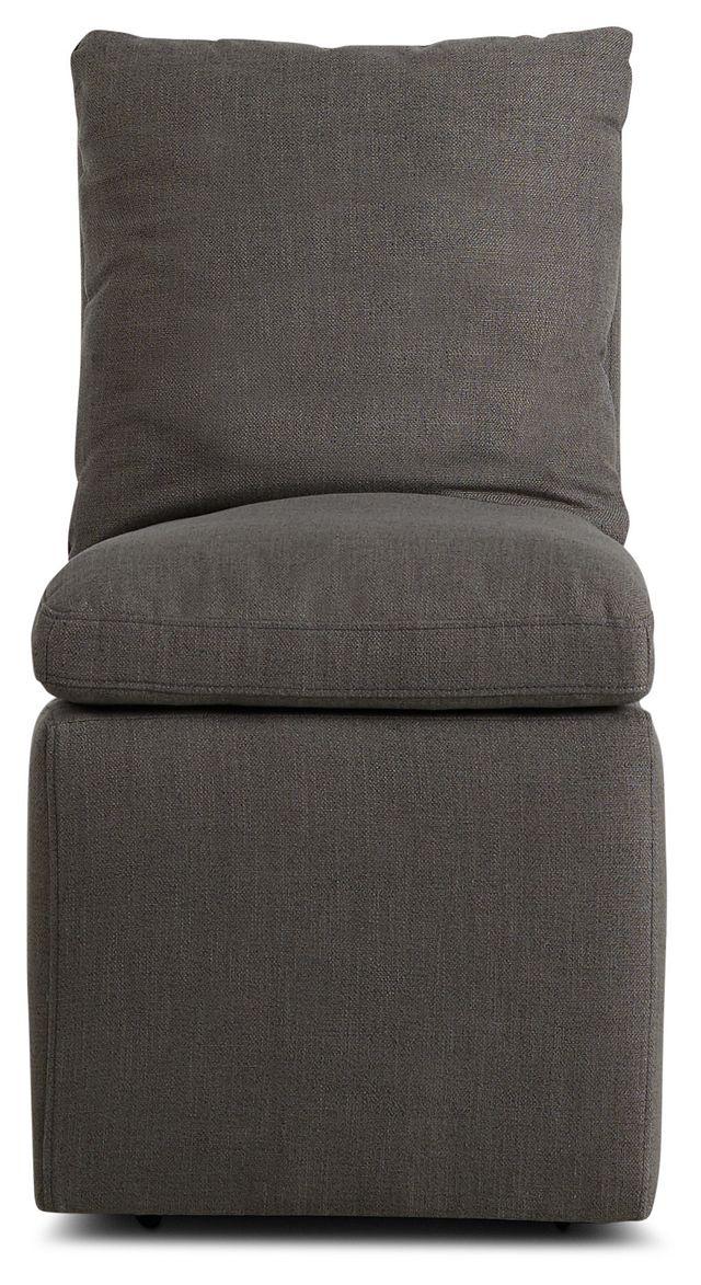 Auden Dark Gray Castored Upholstered Side Chair (3)