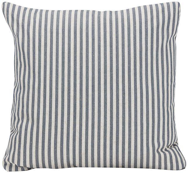 Scout Dark Blue Stripe Square Accent Pillow (0)
