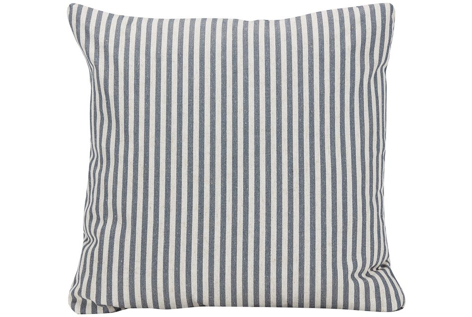 Scout Dark Blue Stripe Square Accent Pillow