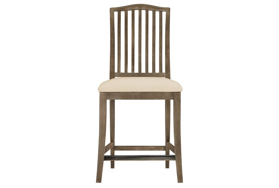 "Preston Gray  24"" Wood Barstool"