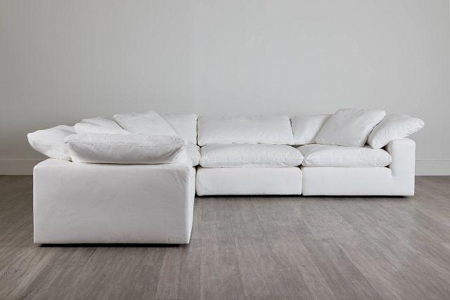 Nixon White Fabric 5-piece Modular Sectional (0)