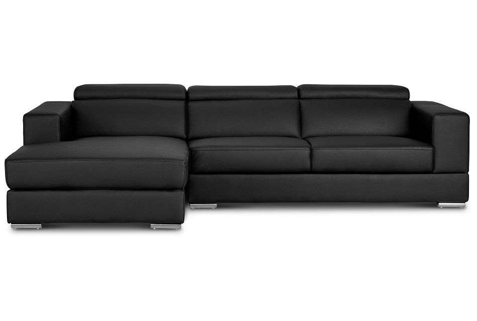 Maxwell Black Micro Left Chaise Sectional
