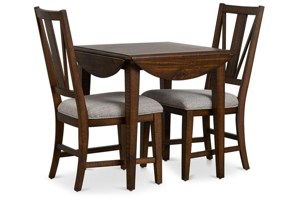"Heron Cove Mid Tone 38"" Table & 2 Chairs,  (3)"