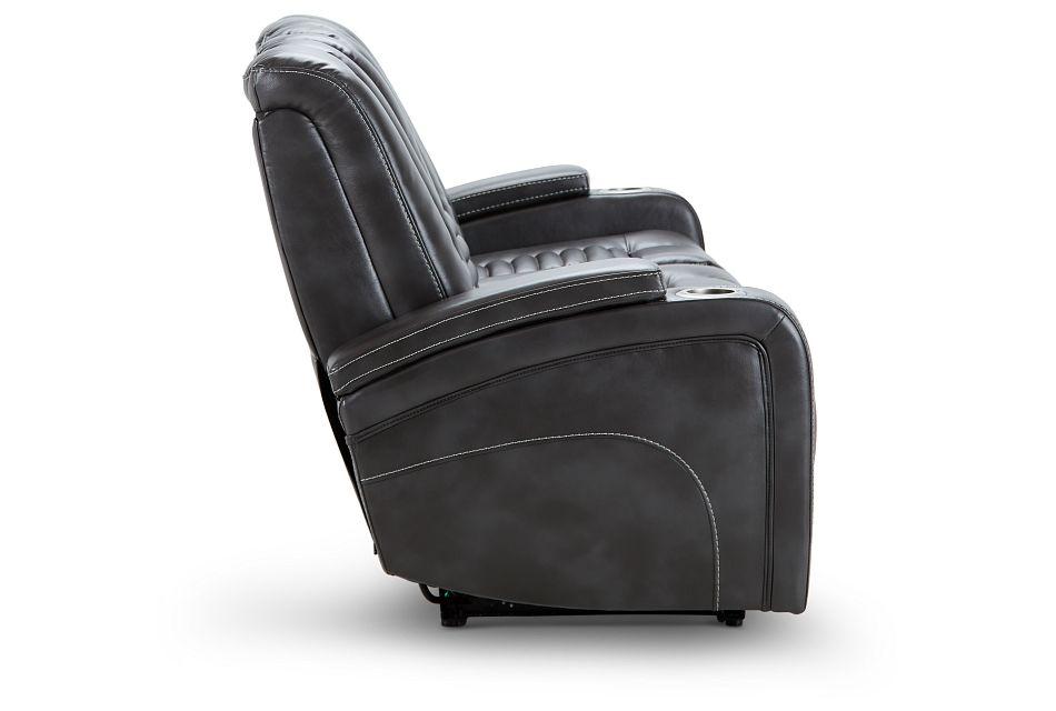 Nexus Gray Micro Power Reclining Sofa, %%bed_Size%% (3)