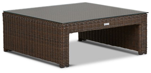 Southport Dark Brown Square Coffee Table (1)