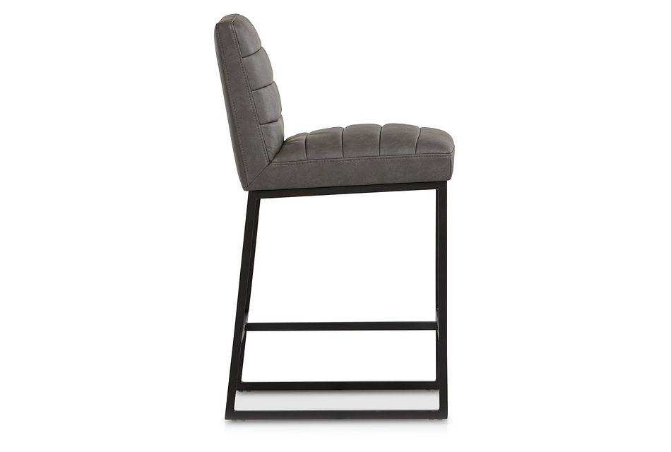 """Miller Dark Gray 24"""" Upholstered Barstool"""