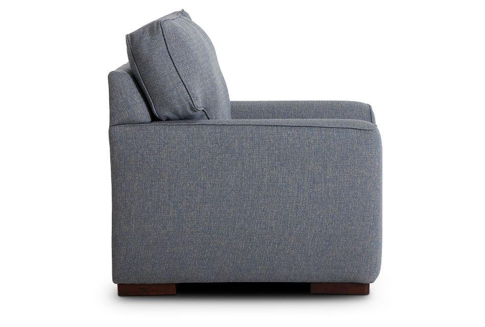 Austin Blue Fabric Chair,  (2)