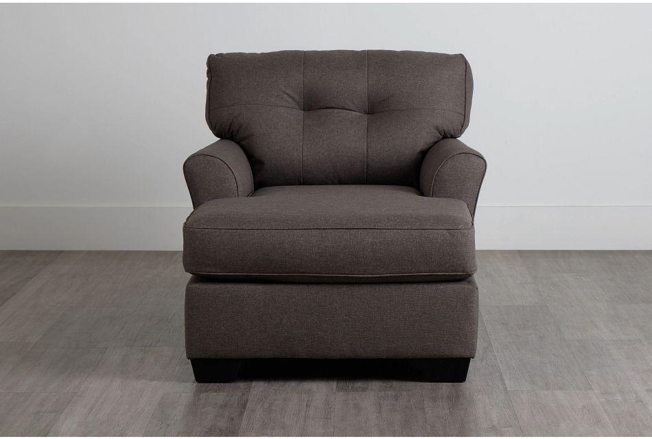 Laryn Dark Gray Micro Chaise,  (1)
