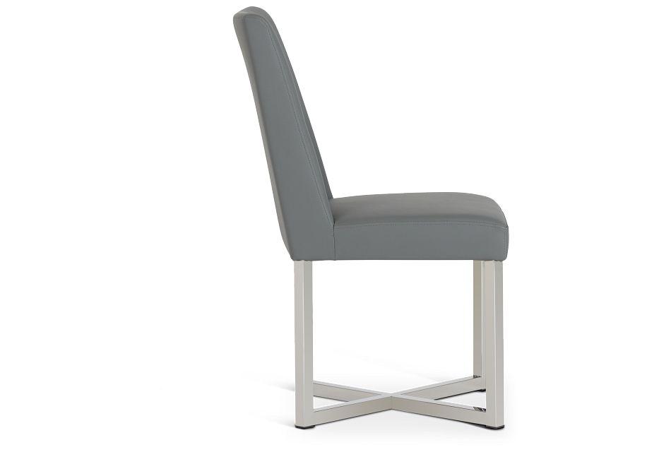 Howard Gray Upholstered Side Chair,  (2)