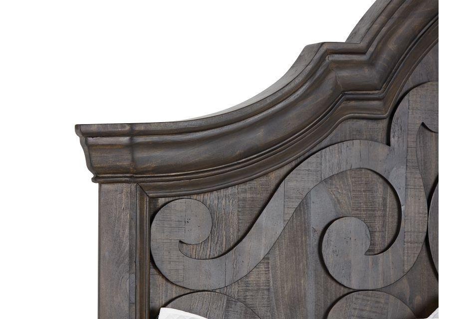 Bellamy Dark Tone Arched Panel Bed
