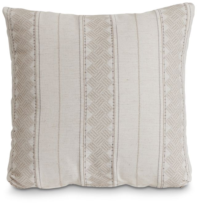 """Hermione Beige Fabric 18"""" Accent Pillow (1)"""