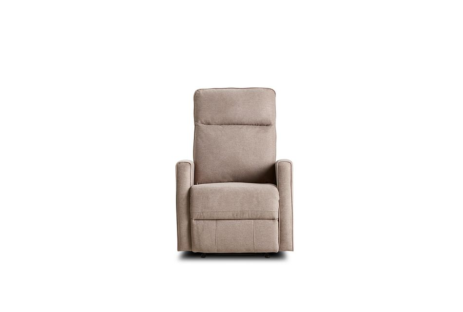 Chris Light Gray Fabric Power Recliner