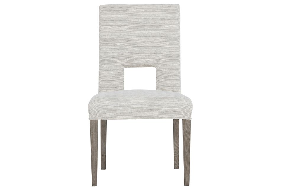 Mosaic White Upholstered Side Chair