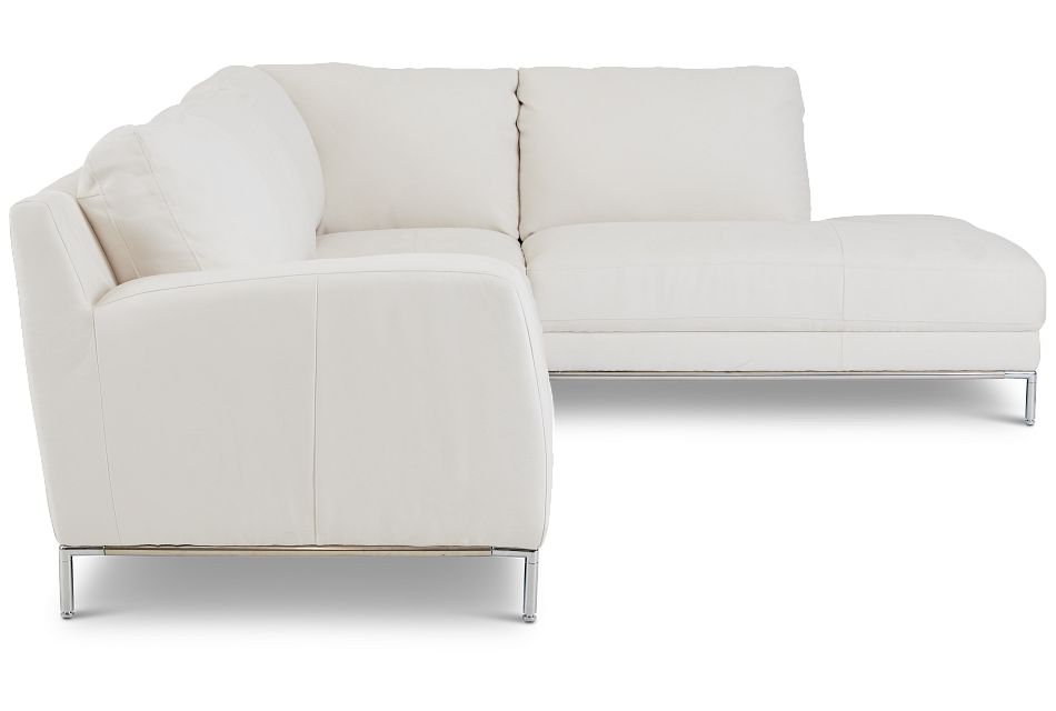 Wynn White Micro Right Chaise Sectional
