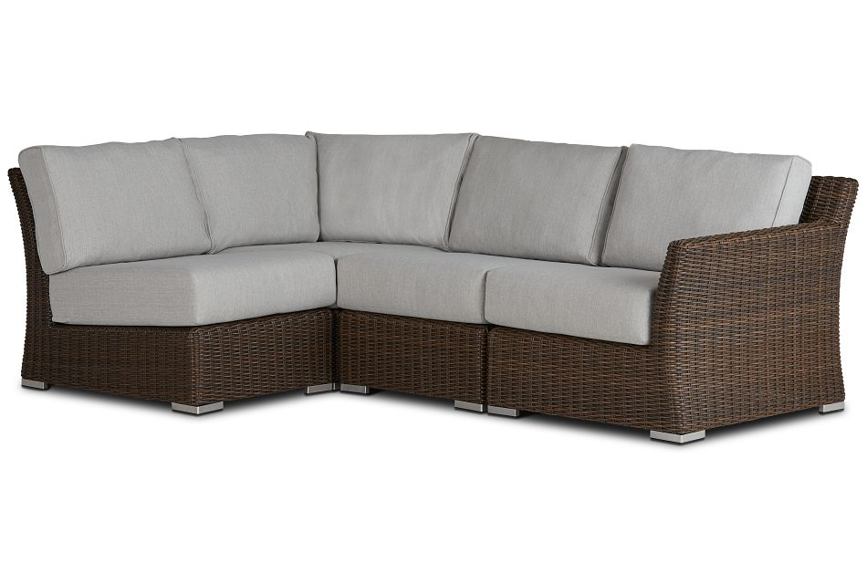 Southport Gray Right 4-piece Modular Sectional