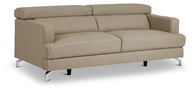 Marquez Taupe Micro Sofa (2)