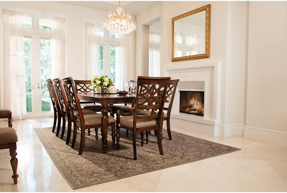 Oxford MID TONE RECT Table & 4 Wood Chairs