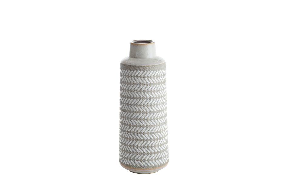 Clover White Large Vase