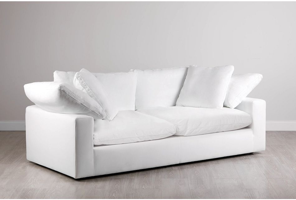 Nixon White Fabric Sofa Living Room