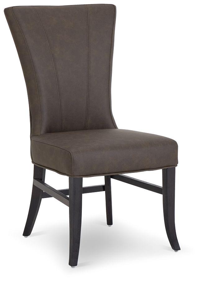 Lori Dark Brown Micro Side Chair (1)