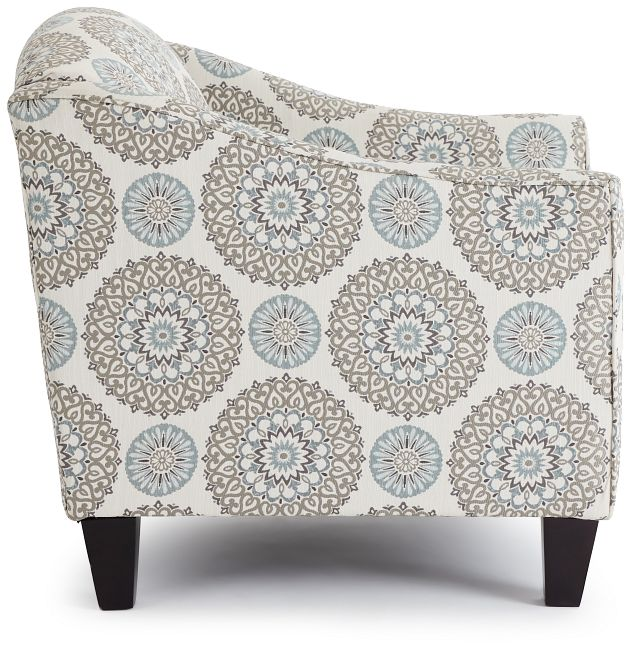 Meadow Multicolored Fabric Accent Chair (2)
