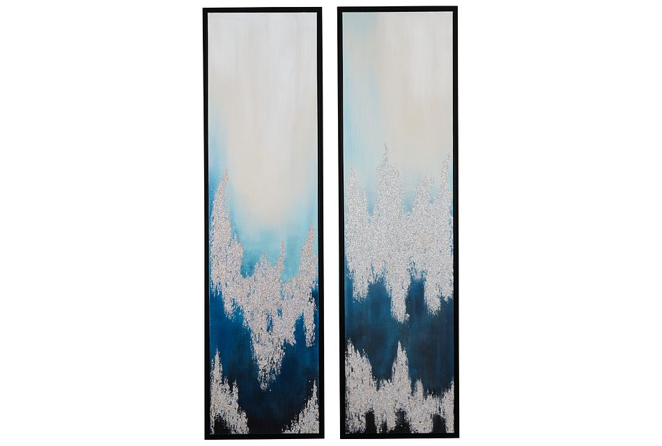 Daysee Blue Set Of 2 Framed Wall Art