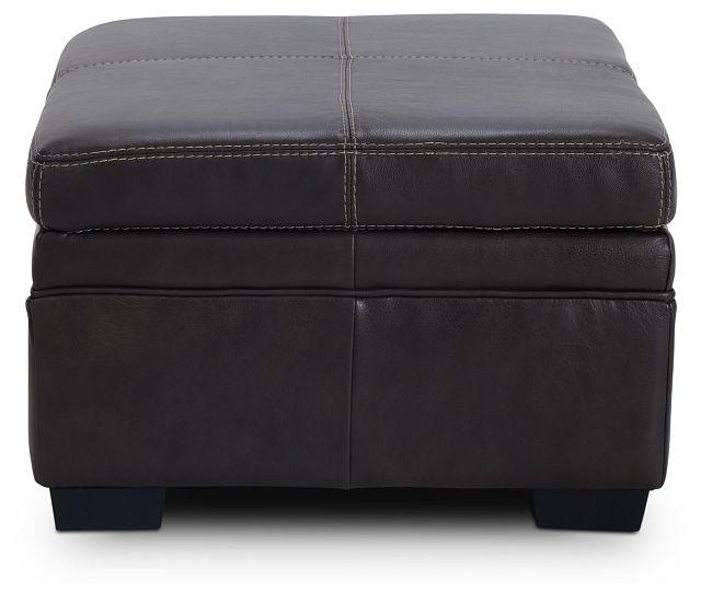 Carson Dark Brown Leather Storage Ottoman (2)