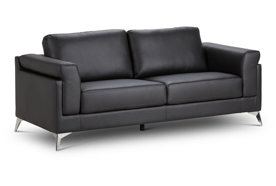 Gianna Black Micro Sofa, %%bed_Size%% (2)