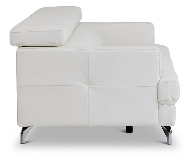 Marquez White Micro Sofa (3)