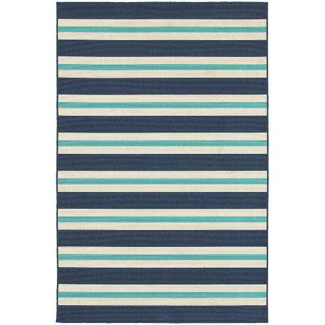 Mercy Blue Stripe Indoor/outdoor 2x3 Area Rug (0)
