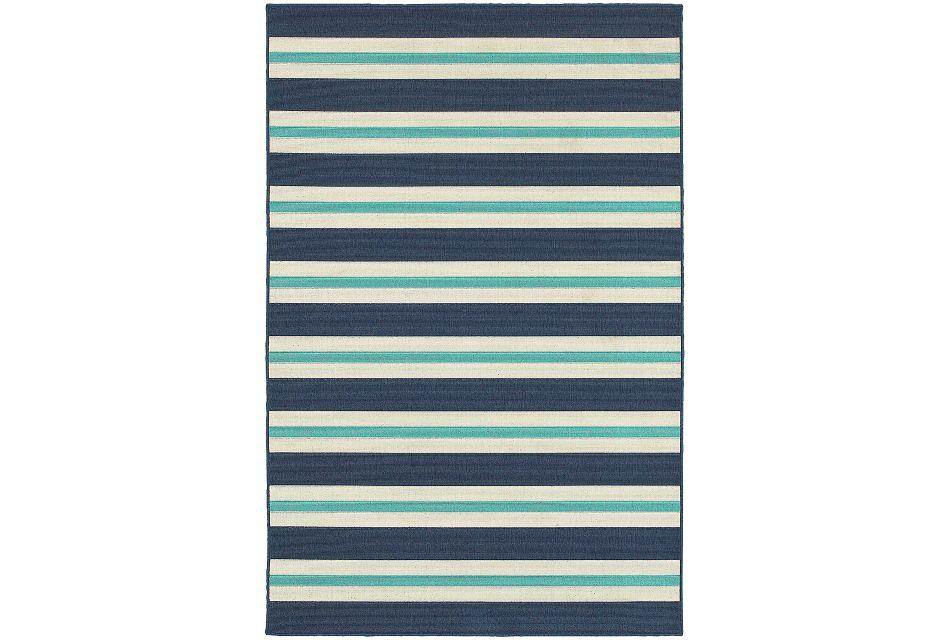 Mercy Blue Stripe Indoor/outdoor 2x3 Area Rug