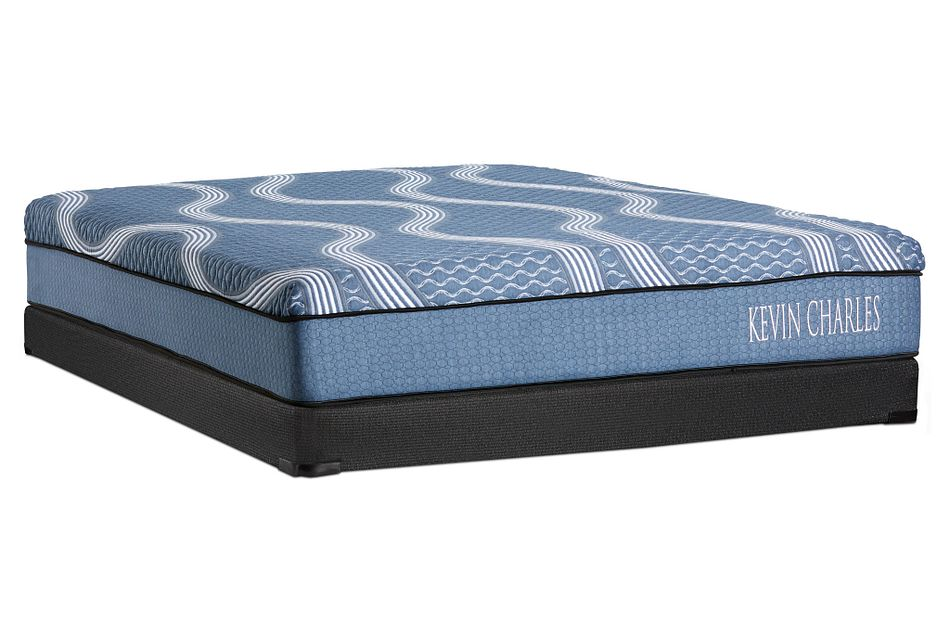 Kevin Charles Crestview Hybrid   Low-Profile Mattress Set