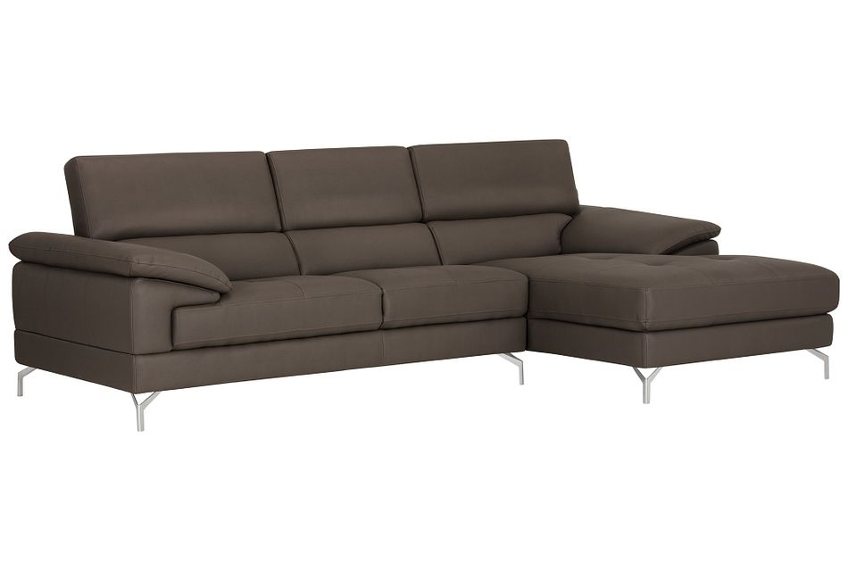 Dash Dark Gray Micro Right Chaise Sectional