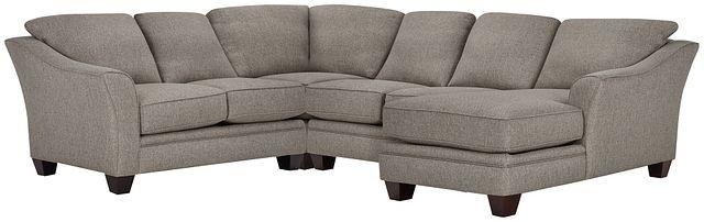 Avery Dark Gray Fabric Medium Right Chaise Sectional (0)