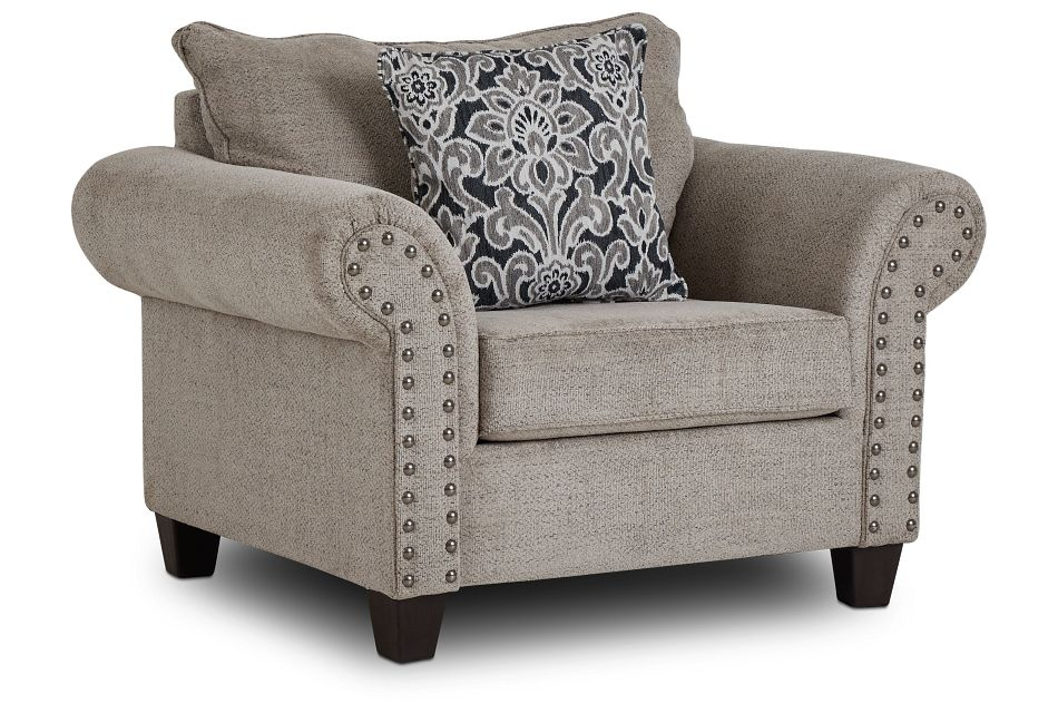 Adrian Light Gray Fabric Chair,  (1)