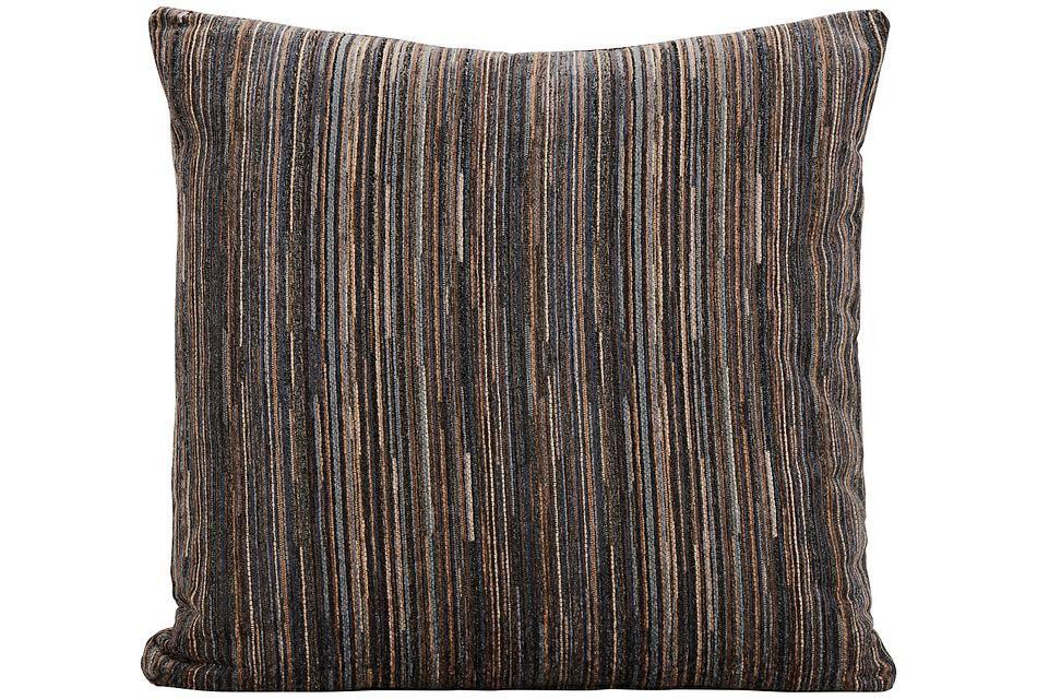 Tease Blue Fabric Square Accent Pillow