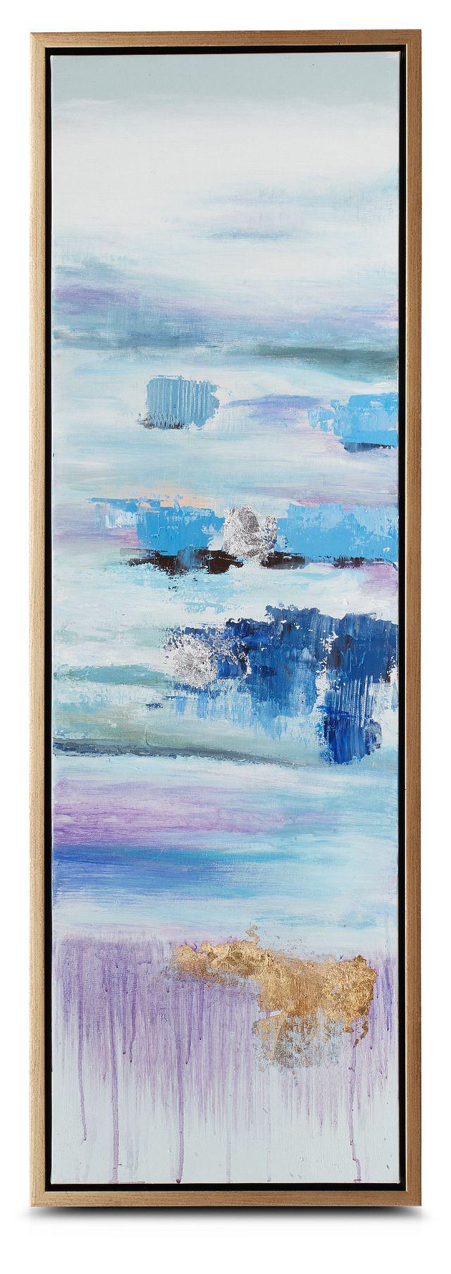Athena Blue Set Of 3 Framed Canvas Wall Art (1)