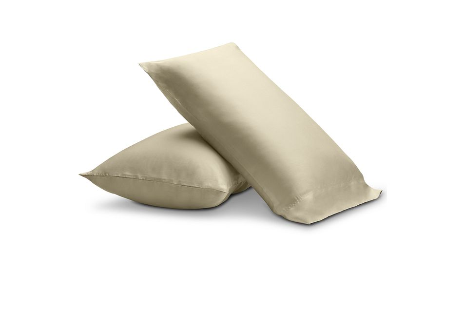 Tencel Beige 300 Thread Set Of 2 Pillowcases