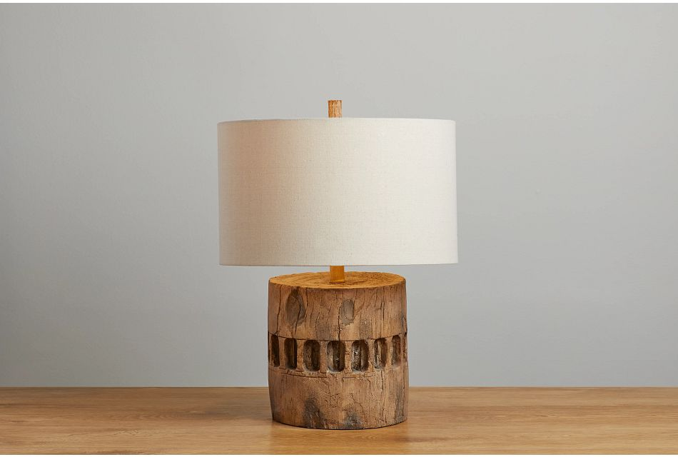 Decklin Dark Beige Table Lamp