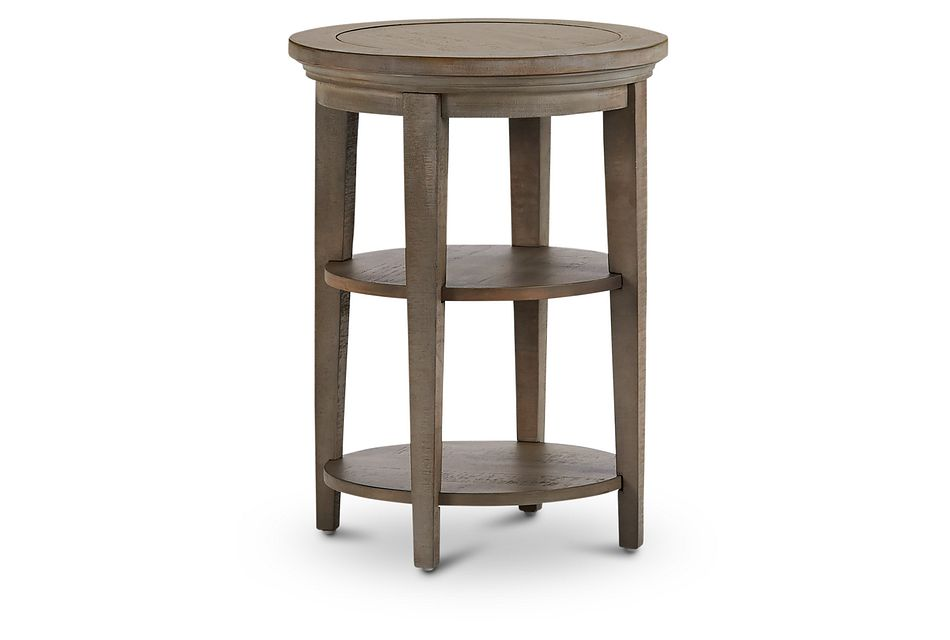Heron Cove Light Tone  Round End Table,  (2)