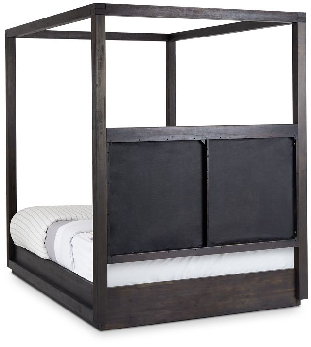 Madden Gray Fabric Canopy Bed