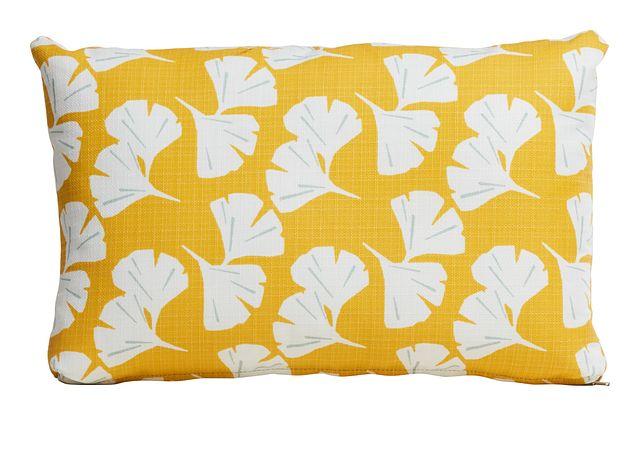 Gingko Yellow Lumbar Indoor/outdoor Accent Pillow (0)