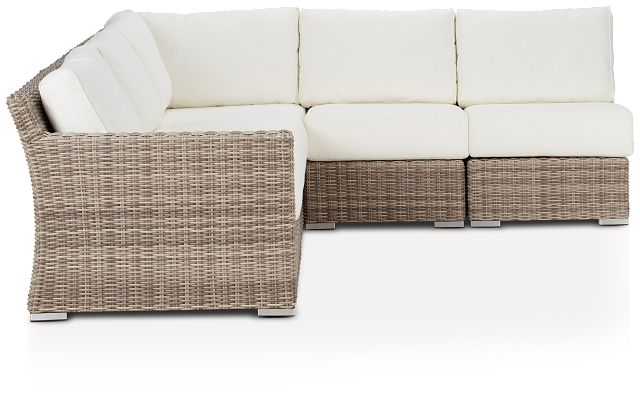 Raleigh White Left 5-piece Modular Sectional (1)