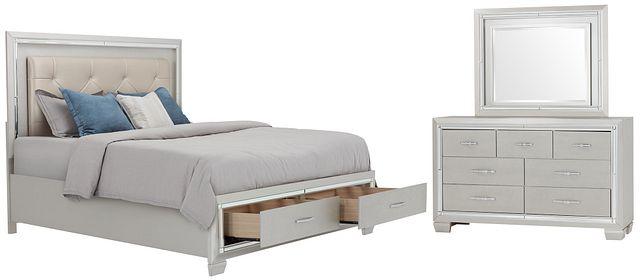 Platinum Silver Uph Panel Storage Bedroom (0)