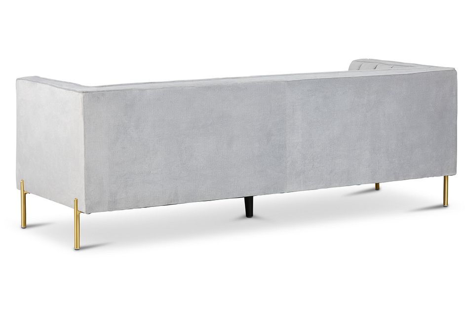 Bella Gray Velvet Sofa