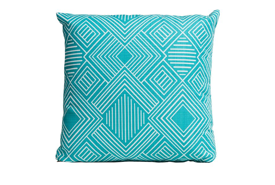 """Phase Blue 18"""" Indoor/outdoor Accent Pillow"""