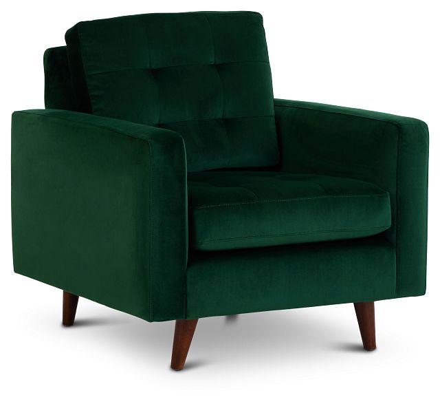 Joya Green Velvet Chair (1)