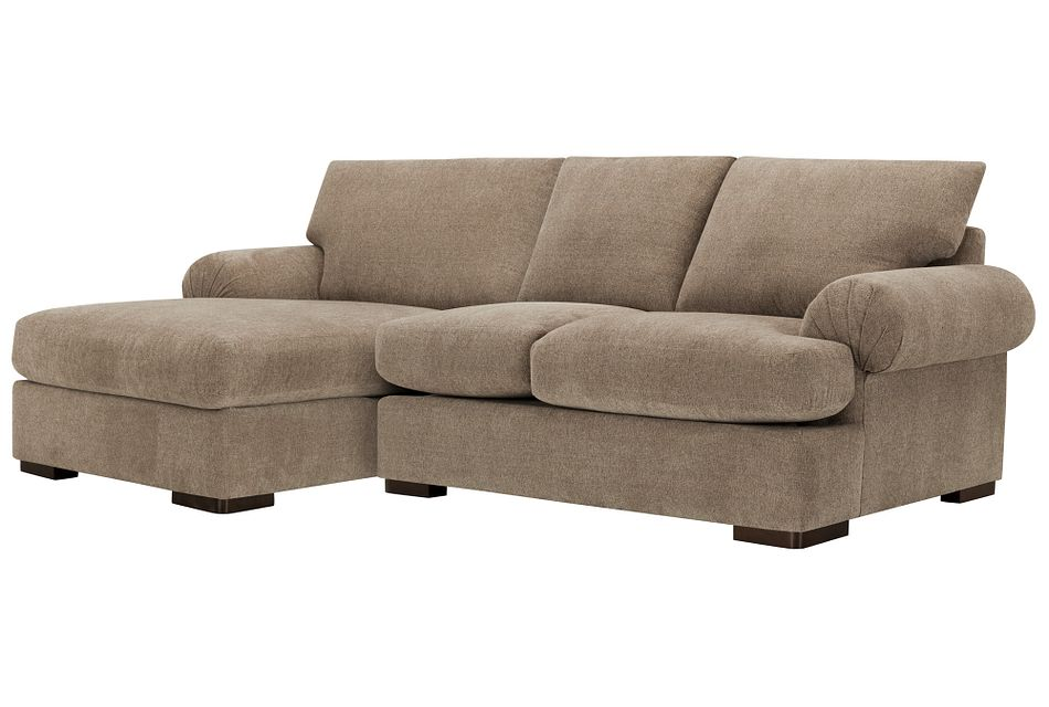 Belair Dark Taupe Fabric Left Chaise Sectional