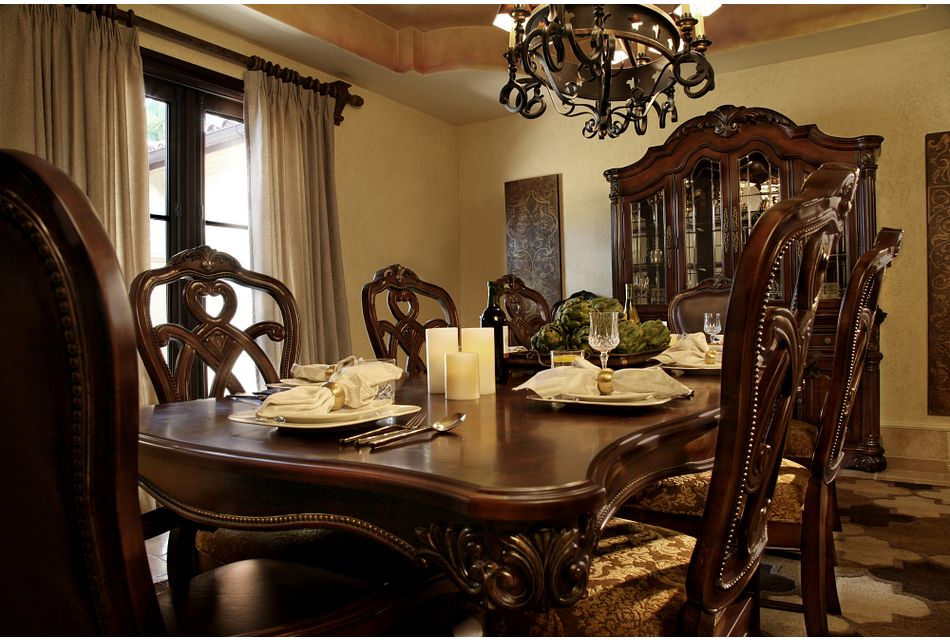 Regal DARK TONE RECT Table & 4 Wood Chairs