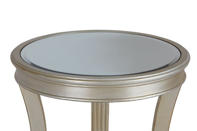 Zadie Silver Accent Table (2)